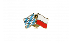 Bavaria - Poland Friendship Flag Pin, Badge - 22 mm
