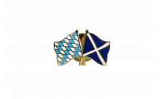 Bavaria - Scotland Friendship Flag Pin, Badge - 22 mm
