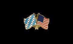 Bavaria - USA Friendship Flag Pin, Badge - 22 mm