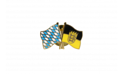 Bavaria - Baden-Württemberg Friendship Flag Pin, Badge - 22 mm
