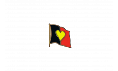 Belgium Heart Flag Flag Pin, Badge - 1 x 1 inch