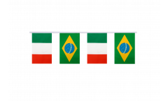 Italy - Brazil Friendship Bunting Flags - 5.9 x 8.65 inch