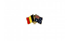Belgium - Australia Friendship Flag Pin, Badge - 22 mm