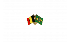 Belgium - Brazil Friendship Flag Pin, Badge - 22 mm