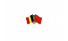 Belgium - China Friendship Flag Pin, Badge - 22 mm