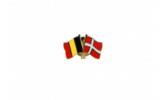 Belgium - Denmark Friendship Flag Pin, Badge - 22 mm