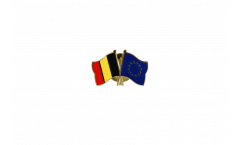 Belgium - Europe Friendship Flag Pin, Badge - 22 mm