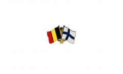 Belgium - Finland Friendship Flag Pin, Badge - 22 mm