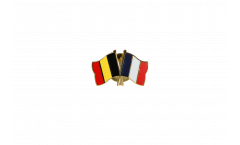Belgium - France Friendship Flag Pin, Badge - 22 mm