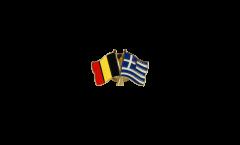 Belgium - Greece Friendship Flag Pin, Badge - 22 mm