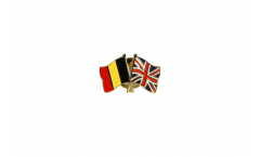 Belgium - Great Britain Friendship Flag Pin, Badge - 22 mm