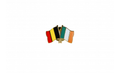 Belgium - Ireland Friendship Flag Pin, Badge - 22 mm