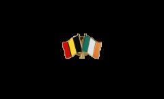Belgium - Ireland Friendship Flag Pin, Badge - 22 mm