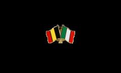 Belgium - Italy Friendship Flag Pin, Badge - 22 mm
