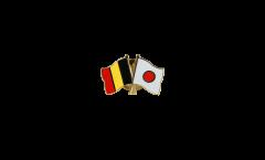Belgium - Japan Friendship Flag Pin, Badge - 22 mm
