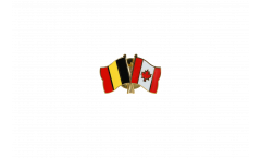 Belgium - Canada Friendship Flag Pin, Badge - 22 mm