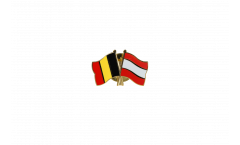 Belgium - Latvia Friendship Flag Pin, Badge - 22 mm