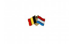 Belgium - Luxembourg Friendship Flag Pin, Badge - 22 mm