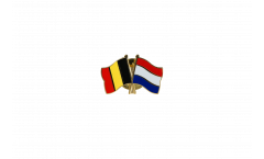 Belgium - Netherlands Friendship Flag Pin, Badge - 22 mm