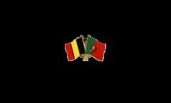 Belgium - Portugal Friendship Flag Pin, Badge - 22 mm