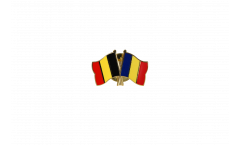 Belgium - Rumania Friendship Flag Pin, Badge - 22 mm