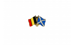 Belgium - Scotland Friendship Flag Pin, Badge - 22 mm