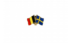 Belgium - Sweden Friendship Flag Pin, Badge - 22 mm