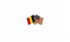 Belgium - USA Friendship Flag Pin, Badge - 22 mm