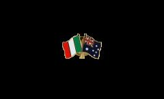 Italy - Australia Friendship Flag Pin, Badge - 22 mm