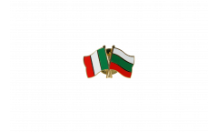 Italy - Bulgaria Friendship Flag Pin, Badge - 22 mm