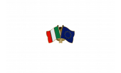 Italy - Europe Friendship Flag Pin, Badge - 22 mm