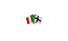 Italy - Finland Friendship Flag Pin, Badge - 22 mm