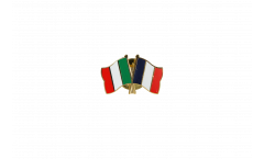 Italy - France Friendship Flag Pin, Badge - 22 mm