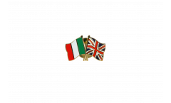 Italy - Great Britain Friendship Flag Pin, Badge - 22 mm
