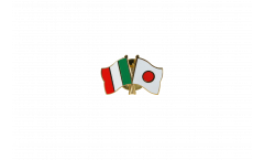 Italy - Japan Friendship Flag Pin, Badge - 22 mm
