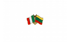 Italy - Lithuania Friendship Flag Pin, Badge - 22 mm