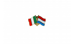 Italy - Luxembourg Friendship Flag Pin, Badge - 22 mm
