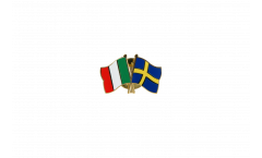 Italy - Sweden Friendship Flag Pin, Badge - 22 mm