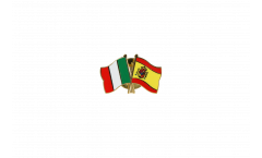 Italy - Spain Friendship Flag Pin, Badge - 22 mm
