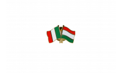 Italy - Hungary Friendship Flag Pin, Badge - 22 mm