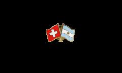 Switzerland - Argentina Friendship Flag Pin, Badge - 22 mm