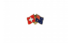 Switzerland - Australia Friendship Flag Pin, Badge - 22 mm