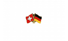 Switzerland - Germany Friendship Flag Pin, Badge - 22 mm