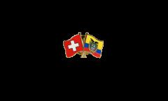 Switzerland - Ecuador Friendship Flag Pin, Badge - 22 mm