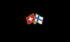 Switzerland - Finland Friendship Flag Pin, Badge - 22 mm