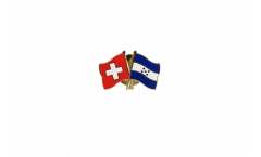 Switzerland - Honduras Friendship Flag Pin, Badge - 22 mm