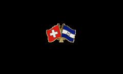 Switzerland - Honduras Friendship Flag Pin, Badge - 22 mm