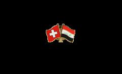 Switzerland - Iraq Friendship Flag Pin, Badge - 22 mm