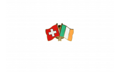 Switzerland - Ireland Friendship Flag Pin, Badge - 22 mm
