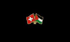 Switzerland - Jordan Friendship Flag Pin, Badge - 22 mm